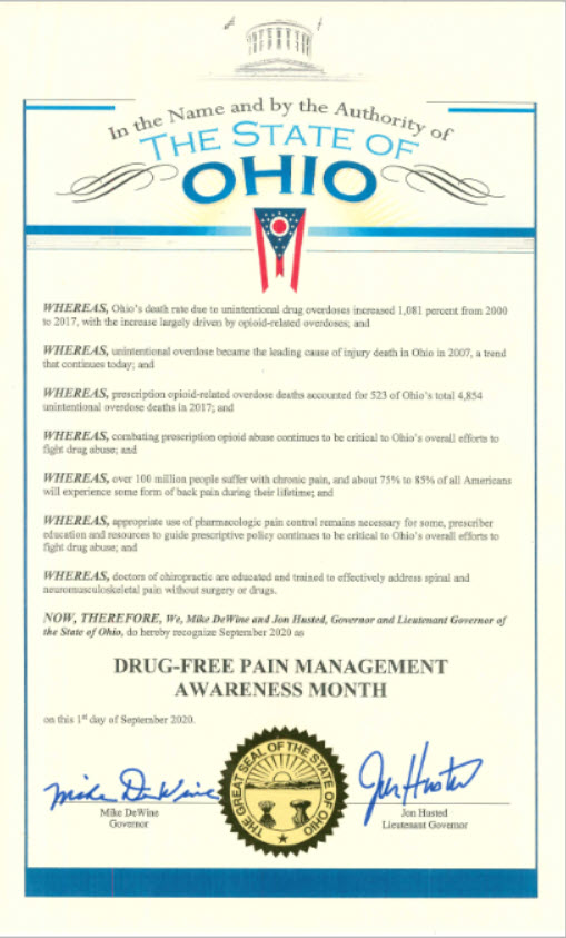 Drug Free Pain Management Month